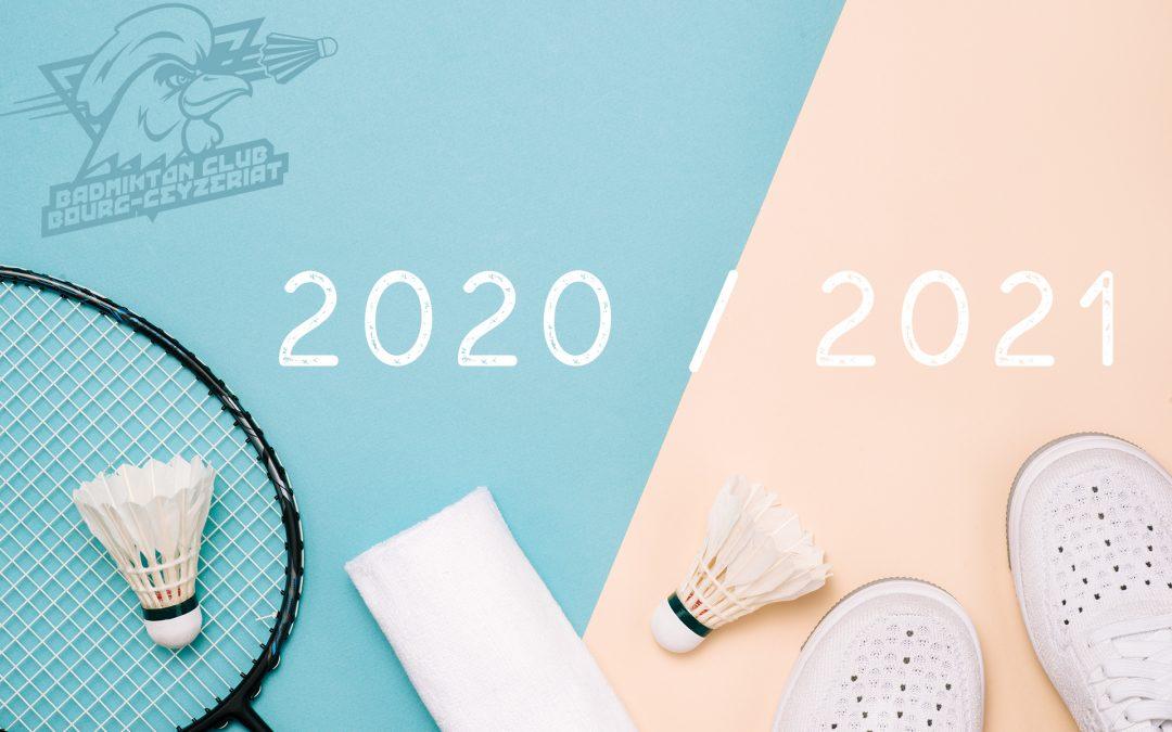 Inscriptions pour la saison 2020 / 2021